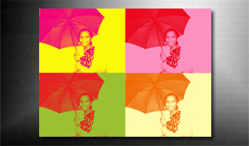 photo to canvas andy warhol colour style, andy warhol photo on canvas service