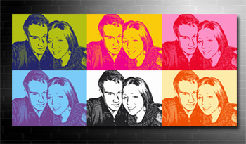 andy warhol photo on canvas service, my photo on canvas pop art style