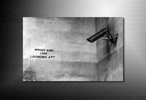 Banksy What Camera Canvas, banksy canvas uk, banksy what camera, banksy what camera wall art, banksy cctv