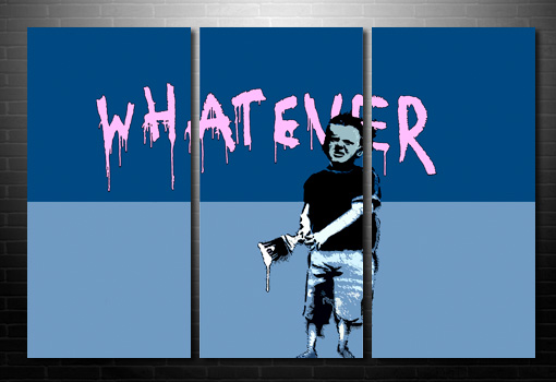 Banksy Whatever wall art, cheap banksy art uk, banksy art, cheap banksy art uk, bansky poster