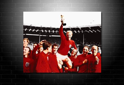 World Cup Canvas 1966, Football Canvas Art, Bobby Moore Canvas, Football Wall Art