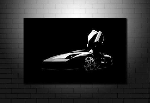 Porsche Canvas Art, Porsche canvas art print, porsche wall art