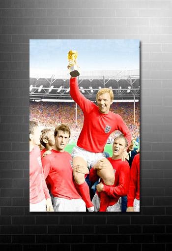 Bobby Moore Canvas Art, Football World Cup Canvas, Football Canvas Art, Bobby Moore Print