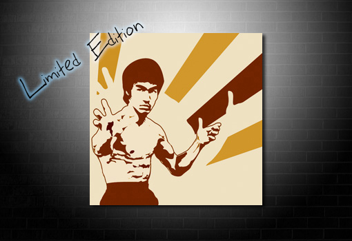 Bruce lee wall art, bruce lee limited edition canvas, bruce lee canvas, bruce lee movie art, bruce lee print