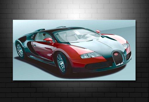 Bugatti Veron Canvas Print, Bugatti Veron Wall Art