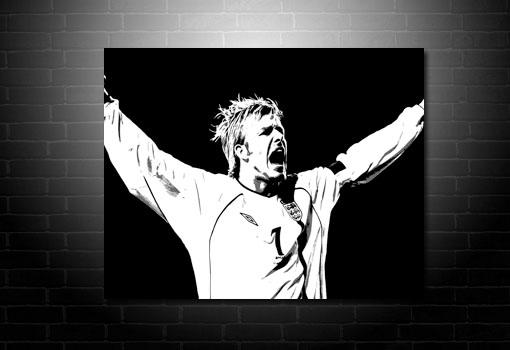 David Beckham Canvas Print, David Beckham Wall Art, David Beckham Canvas Art