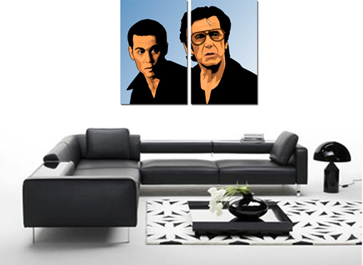 al pacino movie art, gangster canvas print, canvas art print, movie wall poster