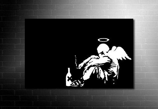 Banksy fallen angel canvas art, banksy angel canvas, banksy angel wall art, banksy canvas