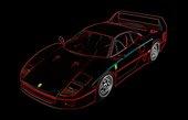 ferrari canvas, Ferrari F40 Canvas Art, Ferrari canvas print