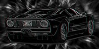 Ford GT Canvas Art, Ford Canvas Wall Art, 3d canvas art