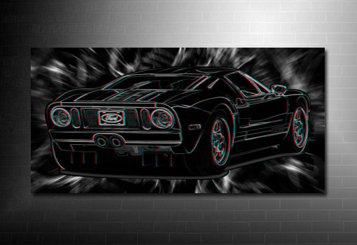 super cars canvas, 3d canvas print, ford car on canvas