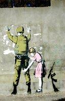 banksy picture frisk, banksy frisk canvas, banksy art uk, banksy wall art, banksy israel canvas
