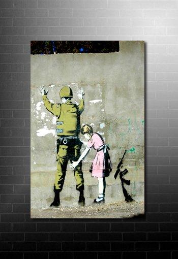 banksy frisk canvas print, banksy frisk wall art, banksy canvas print, banksy canvas art, banksy artwork