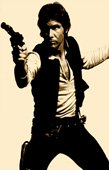 star wars canvas art, hans solo
