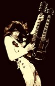 jimmy page pop art, jimmy page