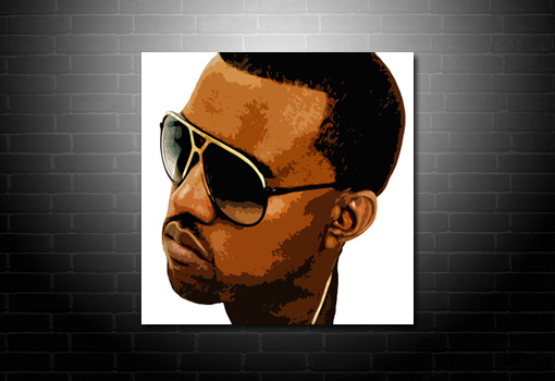 Kanye West canvas art, kanye west art print