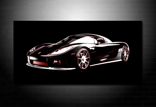 Koenigsegg Canvas Art, Koenigsegg Canvas print