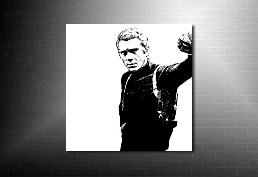 Steve McQueen Canvas Art, bullitt movie print, steve mcqueen movie canvas, bullitt movie canvas, steve mcqueen pop art