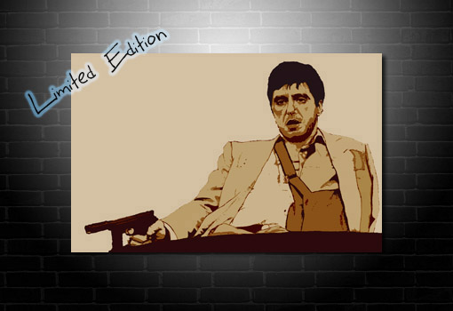 Scarface Limited Edition Canvas, scarface movie art, scarafce canvas print, scarface wall art, scarface canvas art