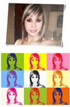photo to canvas art, warhol style photo canvas