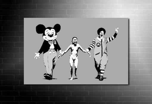 Banksy Napalm Print, banksy walt disnep canvas, banksy wall art, banksy canvas print, banksy canvas