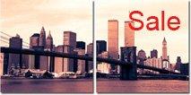 brooklyn bridge canvas art, bew york cityscape canvas