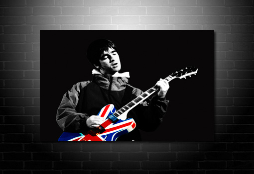 noel gallagher union jack guitar canvas, noel gallagher canvas picture, noel gallagher canvas, noel gallagher print, noel gallagher wall art, music canvas, oasis canvas print