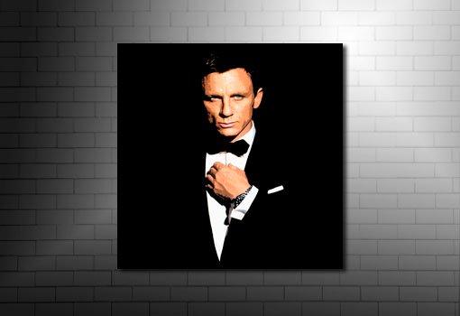 James Bond Canvas Print, james bond wall art, daniel craig canvas rart, james bond canvas, james bond pop art