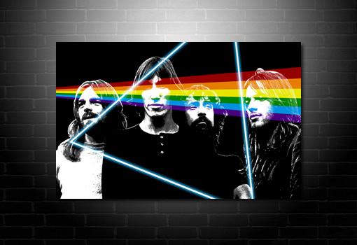 Pink Floyd Canvas Print, pink floyd canvas art, pink floyd pop art, pink floyd modern wall art