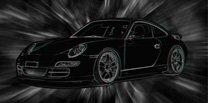 Porsche 911 Canvas, 3d canvas art, porsche canvas art
