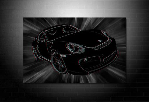 Porsche 3D Wall Art, 3d canvas art, porsche canvas art