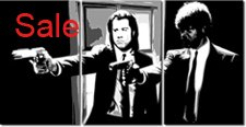 pulp fiction canvas print, pulp fiction gliclee print, vincent and jules wall art