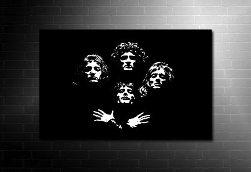 Queen Canvas print, queen canvas wall art, freddie mercury canvas, queen canvas art