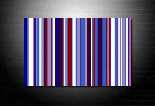Contemporary Pop Art, Pop Art Work, Retro Stripes Canvas, Paul Smith canvas