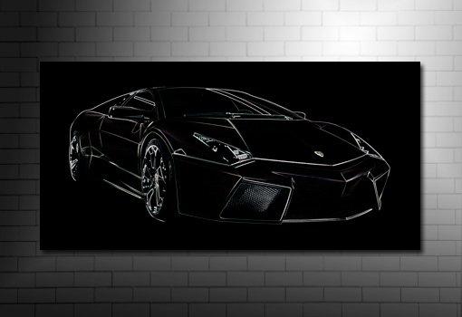 Lamborghini Reventon Canvas, Lamborghini wall art, lamborghini canvas art
