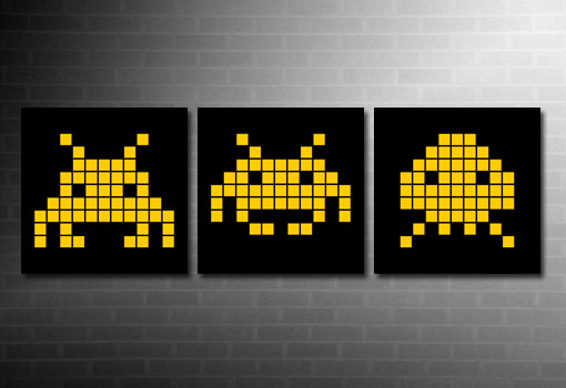 Space Invaders Canvas Art, Space Invaders Retro Canvas, Space Invaders Wall Art, Retro Canvas Art