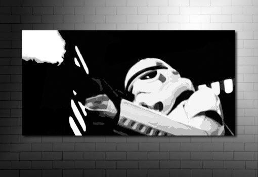 StarWars Canvas Print, star wars movie canvas, stormtrooper wall art, stormtrooper movie canvas, star wars print