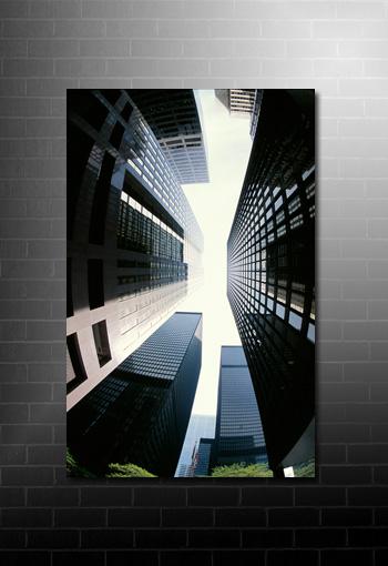 skyscraper canvas art, new york canvas