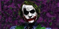the joker canvas wall art, heath ledger movie art