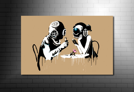Banksy Think Tank Print, banksy think tank canvas, banksy graffiti art, banksy canvas art, banksy canvas picture