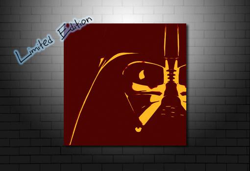 Limited Edition Vader Canvas, darth vader wall art, star wars canvas, darth vader canvas print, star wars wall art