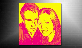 photo on canvas pop art style canvas art, andy warhol photo on canvas service