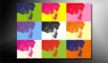 my photo to canvas warhol style art, photo on canvas andy warhol